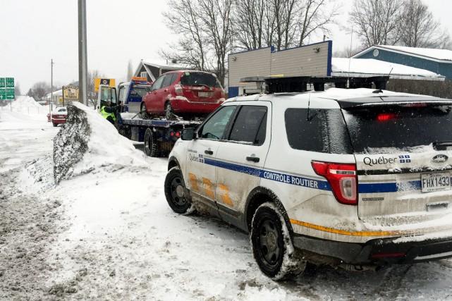 Contrôle routier Québec prévoit d'autres opérations de saisie... (Photo fournie par Contrôle routier Québec)