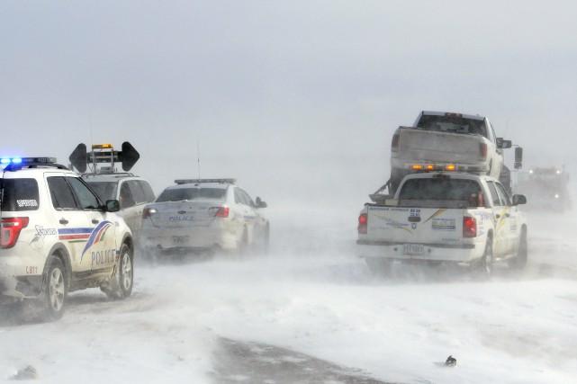 En début d'après-midi, de nombreux accidents se sont... ((Photo Mariane L. St-Gelais))
