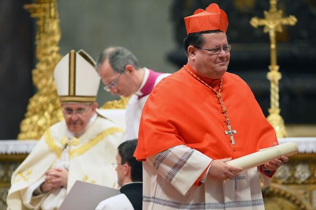 Le 22 février 2014, Mgr Gérald Cyprien Lacroix... (Vincenzo Pinto, Archives Agence France-Presse)