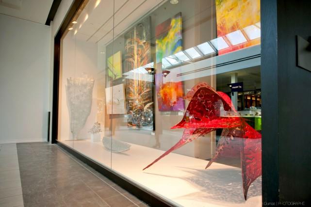 La Galerie Ni Vu Ni Cornu de Sainte-Anne-de-Beaupré présente, jusqu'au 3 mars,... (Photo fournie par Manon Dumas)