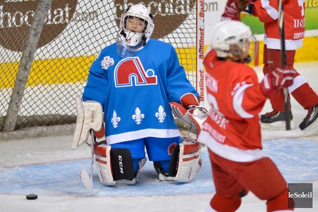 Antoine Coulombe et les petits Nordiques n'ont rien... (Photo Le Soleil, Yan Doublet)