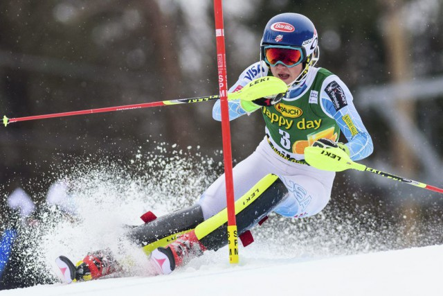 Mikaela Shiffrin... (PHOTO JURE MAKOVEC, AFP)