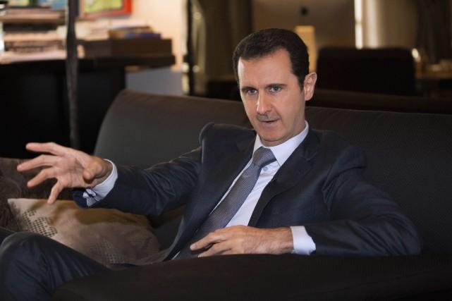 Le président syrien, Bachar al-Assad.... (Photo AP/Agence SANA)
