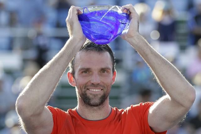 Ivo Karlovic a gagné l'Omnium de Delray Beach, dimanche, grâce à une victoire... (Photo: AP)