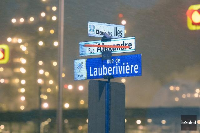 Le nom de la rue de Lauberivière, rebaptisée... (Photothèque Le Soleil, Jean-Marie Villeneuve)