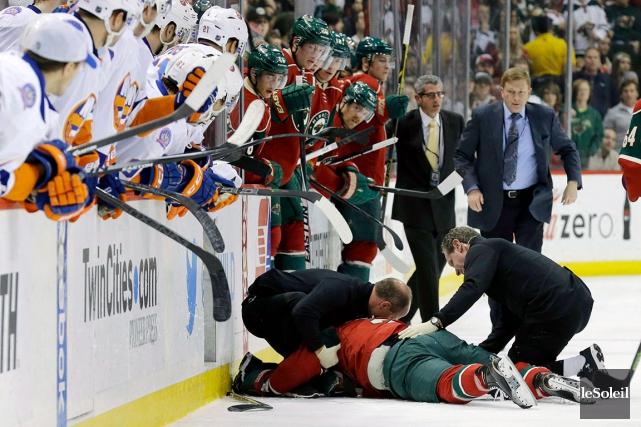 Un mois après une commotion cérébrale, un hockeyeur... (Photothèque Le Soleil)