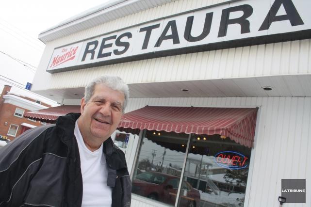 Maurice Batrie est propriétaire du restaurant Chez Maurice... (La Tribune, Jean-François Gagnon)