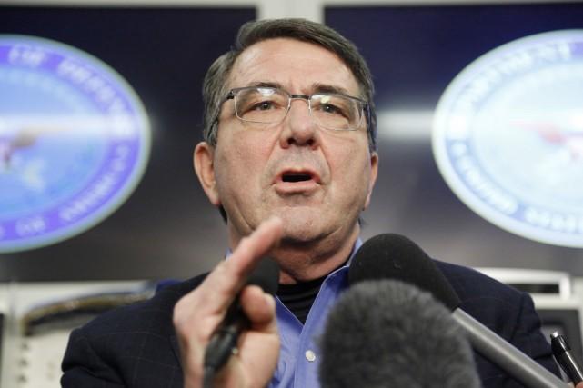Le nouveau secrétaire américain à la Défense, Ashton... (PHOTO JONATHAN ERNST, ARCHIVES AFP)