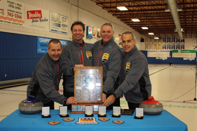 Ted Butler, Don Westphal, Maurice Cayouette et Michel... (Courtoisie, Facebook Curling Québec)