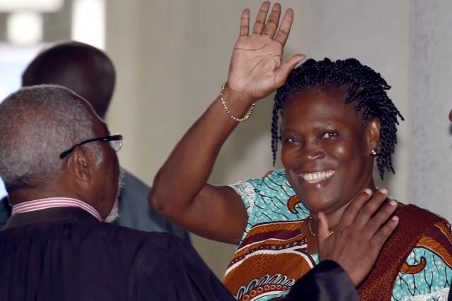 Simone Gbagbo, surnommée «la Dame de fer» ivoirienne,... (PHOTO ISSOUF SANOGO, ARCHIVES AFP)