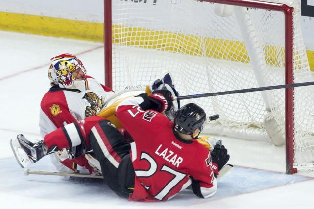 Curtis Lazar était mal à l'aise parce que,... (Marc DesRosiers-USA TODAY Sports)