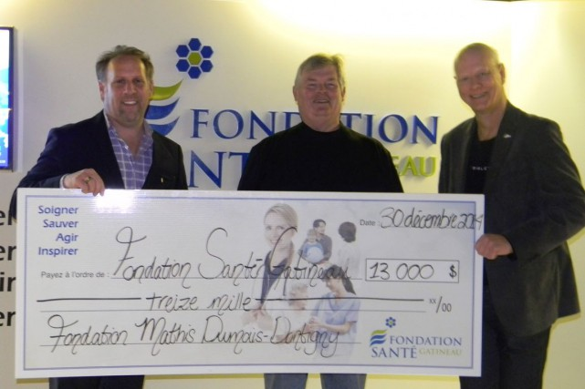 La Fondation Santé Gatineau a reçu la somme de 13000$ provenant du tournoi de... (Courtoisie)