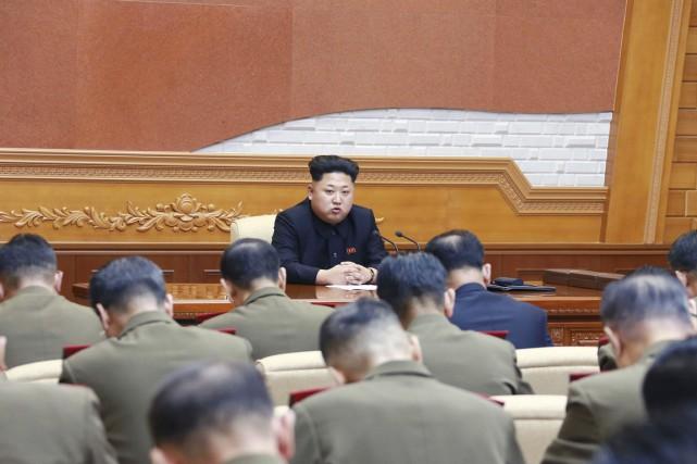 Dans un discours «historique» devant la Commission militaire... (PHOTO REUTERS/KCNA)