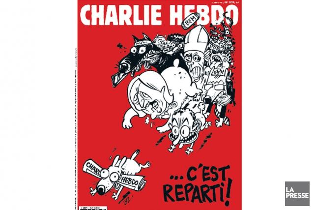 Le numéro 1179 deCharlie Hebdo, qui veut témoigner... (Image tirée de Twitter)