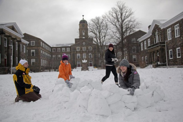 Des étudiants sur le campus de l'Université Dalhousie,... (Photo Tim Krochak, archives PC)