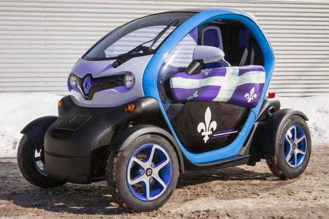 La Twizy est un quadricycle 100 % électrique,... (Photo Olivier Ourseau, CAA-Québec)