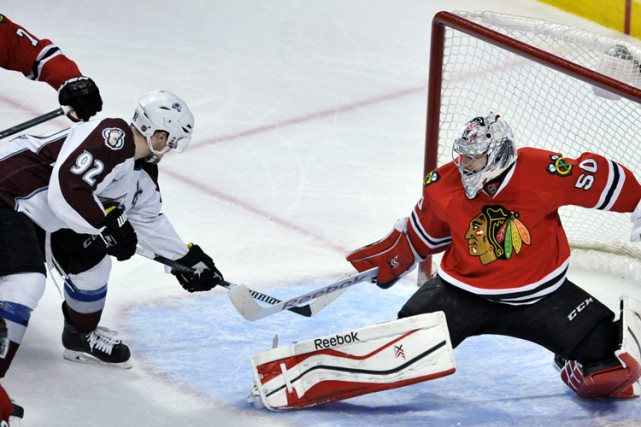 On est loin du bouton «panique», mais les Blackhawks de Chicago savent qu'ils... (Photo: AP)