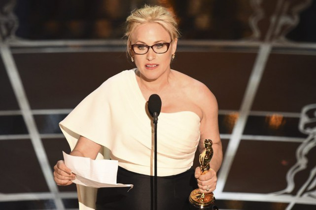 Patricia Arquette a remportél'Oscar de la meilleure actrice... (PHOTO ROBYN BECK, AFP)