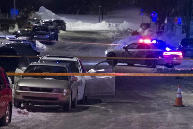 Un homme de 24 ans a été poignardé, lundi soir un peu avant 19 h, dans... (PHOTO FÉLIX O.J. FOURNIER, COLLABORATION SPECIALE)