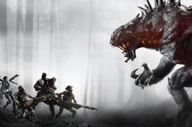 Le jeu Evolve conçu parTurtle Rock Studios....