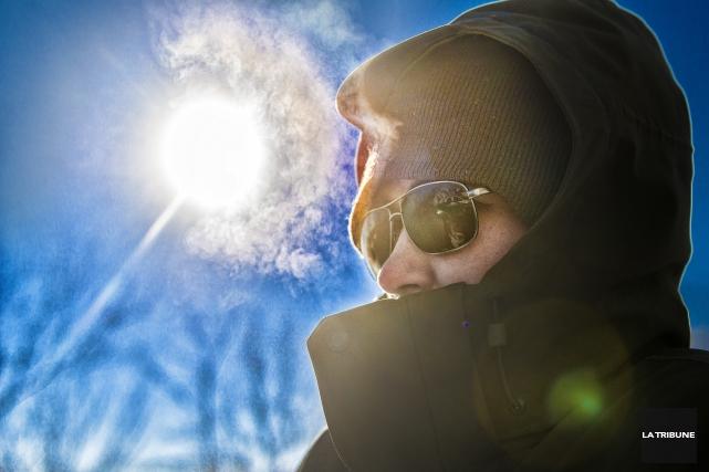 En affichant une température de moins 33 degrés, mardi matin, le mercure... (Imacom, Jocelyn Riendeau)