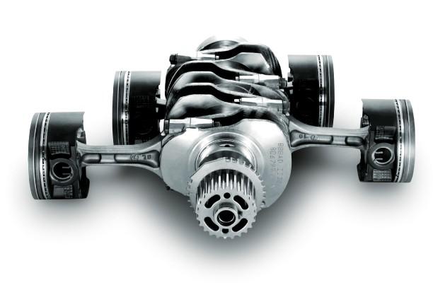 Vue des pièces internes d'un moteur Boxer.... (PHOTO FOURNIE PAR SUBARU)