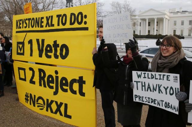 Des environnementalistes ont remercié le président Obama amrdi... (Photo: Reuters)