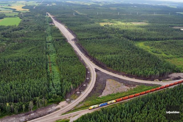 La compagnie de chemin de fer Roberval-Saguenay confirme... ((Archives Le Quotidien))