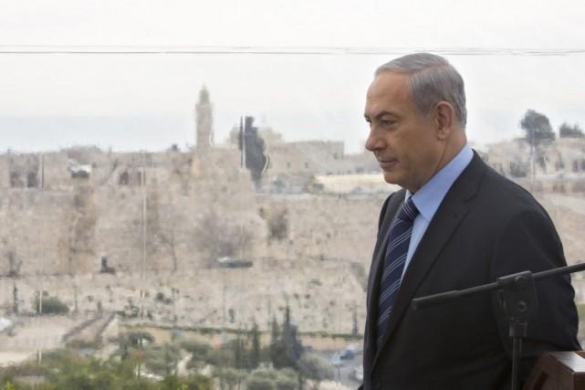 Le premier ministre israélien, Benjamin Netanyahou... (PHOTO SEBASTIAN SCHEINER, ASSOCIATED PRESS)