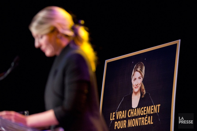 Mélanie Joly, lors de sa campagne à la... (PHOTO DAVID BOILY, ARCHIVES LA PRESSE)