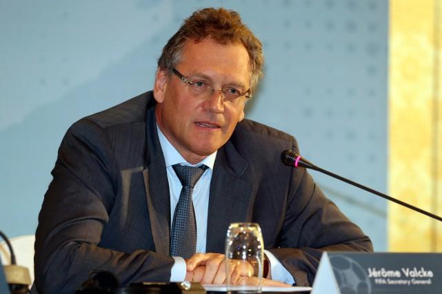 Le secrétaire général de la FIFA, Jérôme Valcke.... (Photo Osama Faisal, AP)