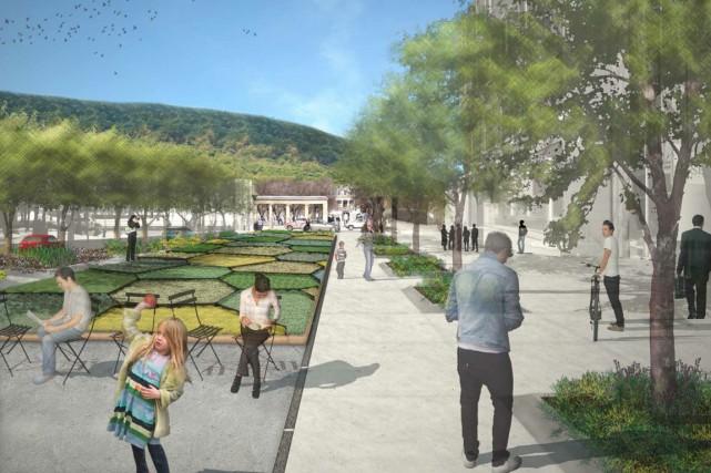 La future avenue McGill College.... (ILLUSTRATION FOURNIE PAR LA VILLE DE MONTRÉAL)