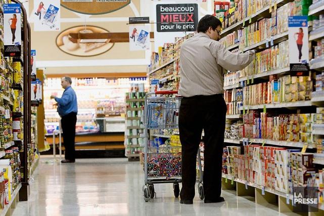 Les prix des aliments ont progressé de 4,6%... (Photo Martin Tremblay, archives La Presse)
