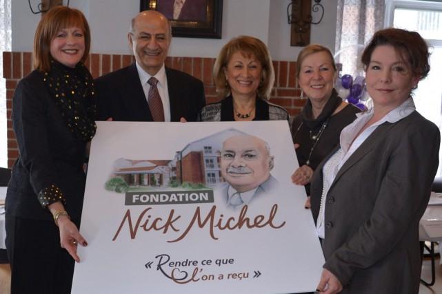 Linda Beaulac, présidente de la Fondation, Michel Michel... ((Courtoisie))