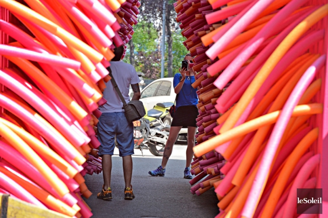 L'été dernier, six oeuvres d'art public inusitées ont... (Photothèque Le Soleil, Pascal Ratthé)
