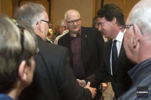 Le candidat à la direction du PQ, Pierre... (Photo: Stéphane Lessard, Le Nouvelliste)