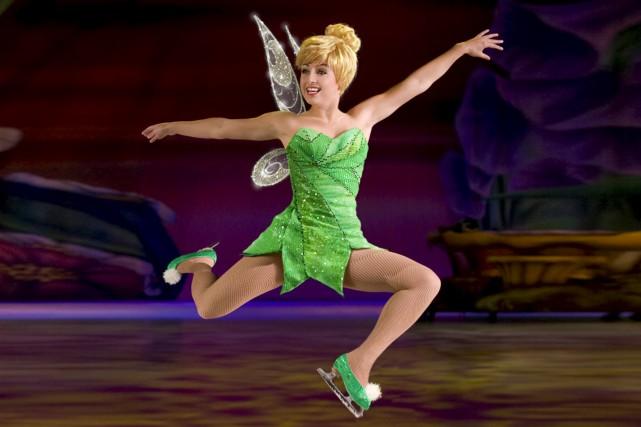 Le spectacle de Disney sur glace raconte une...