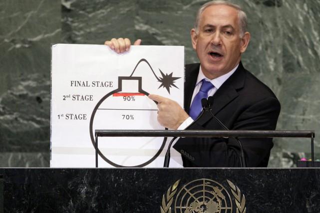 Le premier ministre israélien Benyamin Nétanyahou s'oppose avec... (PHOTO RICHARD DREW, ARCHIVES AP)