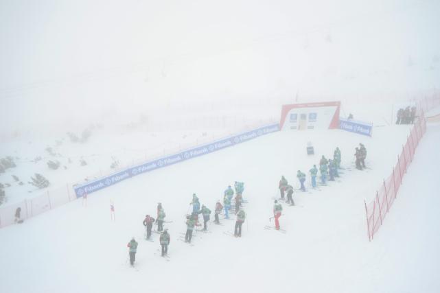 Le super-G de Bansko comptant pour la Coupe du monde féminine de ski alpin a... (Photo Pier Marco Tacca, AP)