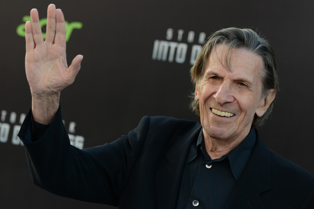 Leonard Nimoy au lancement du film Star Trek... (PHOTO AP)