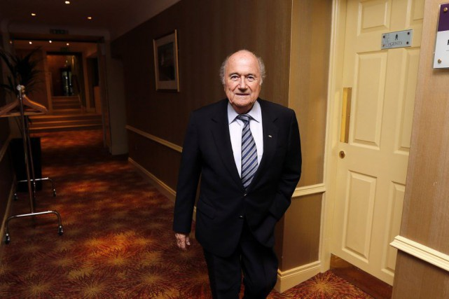 Sepp Blatter... (PHOTO CATHAL MCNAUGHTON, REUTERS)