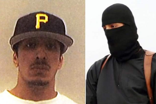 Mohammed Emwazi, alias «Jihadi John», casquette des Pirates... (PHOTO SKY NEWS)