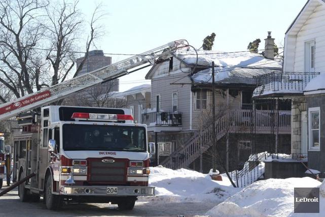 Les pompiers ont réussi à limiter les dégâts... (Patrick Woodbury, LeDroit)