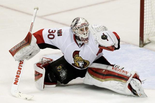 Andrew Hammond attendait d'évoluer dans une grande ligue... (Chris Carlson, Associated Press)