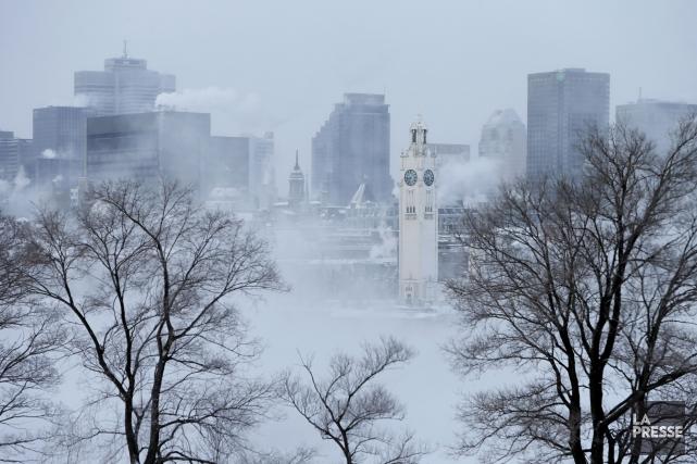 L'air arctique qui a soufflé sur le Québec... (PHOTO MARTIN CHAMBERLAND, LA PRESSE)