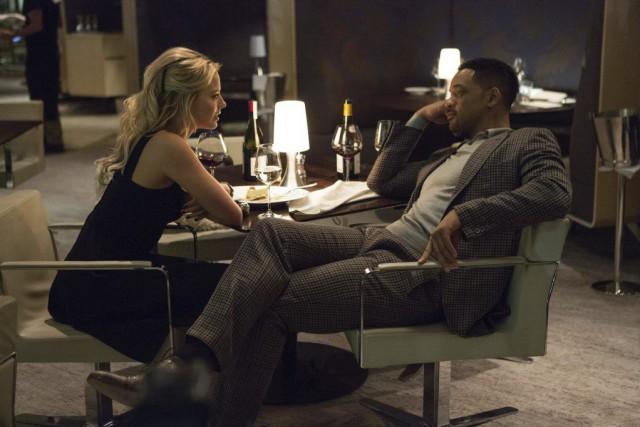 Margot Robbie et Will Smith dans Focus, un... (Photo fournie par Warner Bros.)