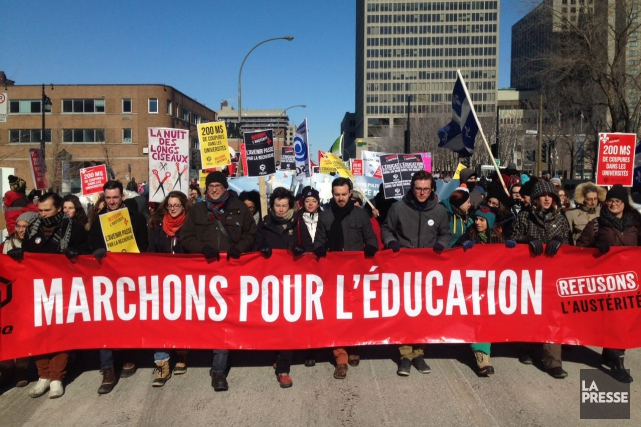 La Fédération des syndicats de l'enseignement (CSQ) et... (PHOTO ROBERT SKINNER, ARCHIVES LA PRESSE)