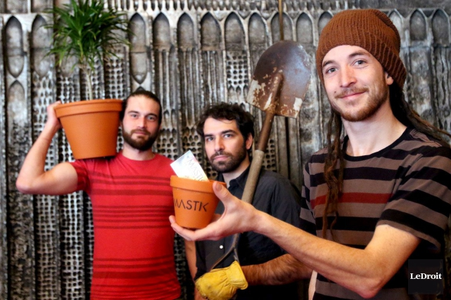 Le groupe Mastik: Christopher Coshall, Martin Charbonneau et... (Patrick Woodbury, LeDroit)