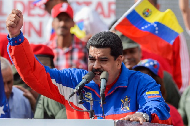 Le président du Venezuela, Nicolas Maduro... (PHOTO FEDERICO PARRA, AFP)