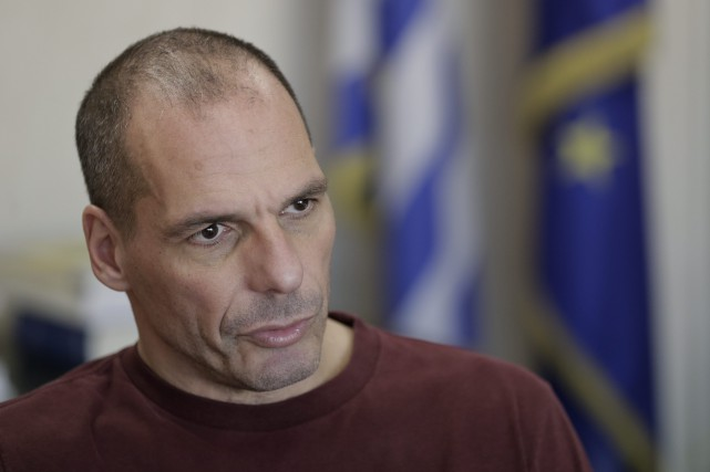 Le ministre grec des Finances, Yanis Varoufakis... (Photo Petros Giannakouris, archives AP)